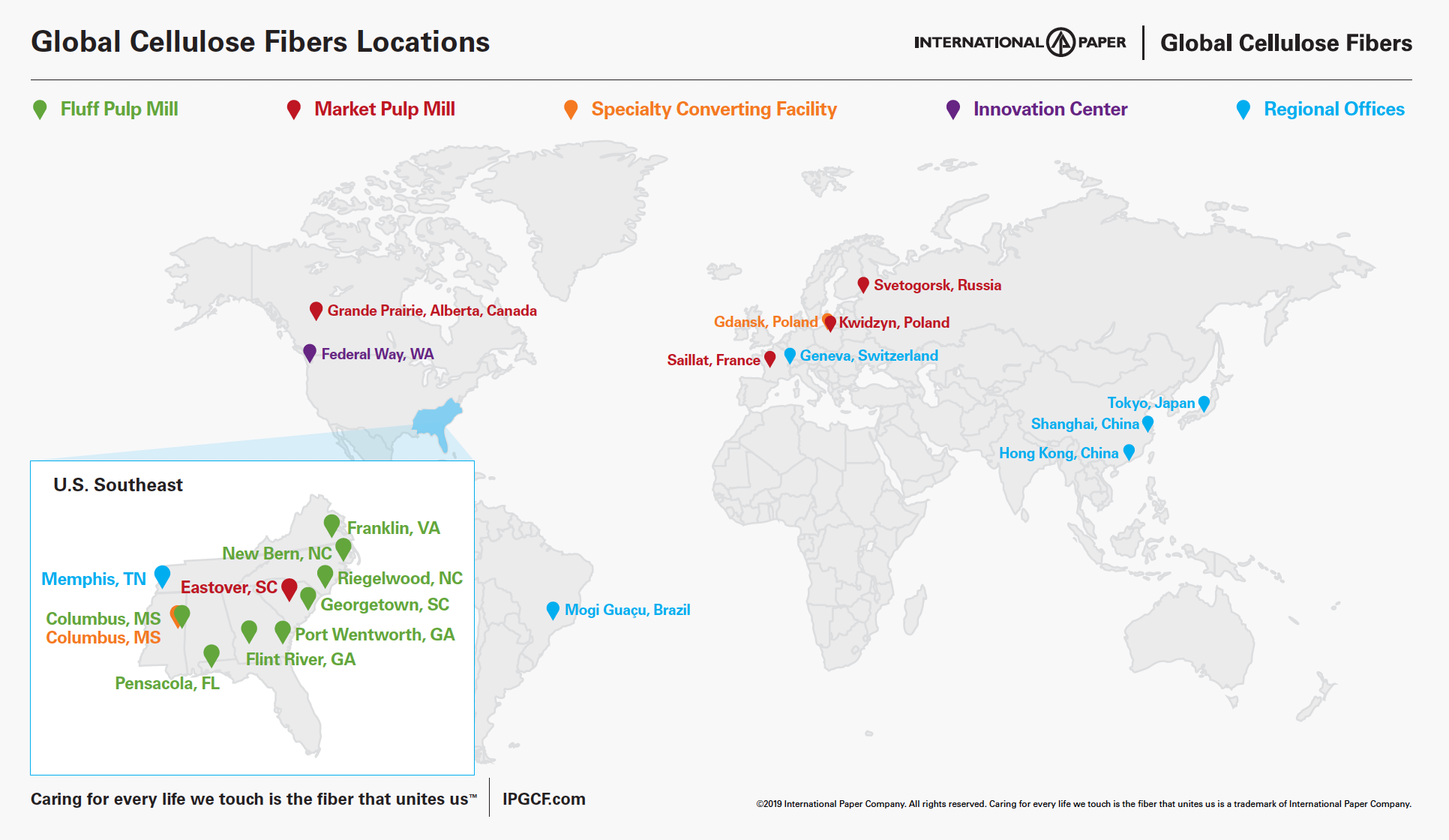 Map of IPGCF Locations